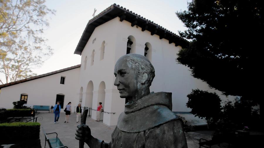 Mission San Luis Obispo de Tolosa in San Luis Obispo was founded in 1772 by Father Junípero Serra. (Luis Sinco / Los Angeles Times) ()