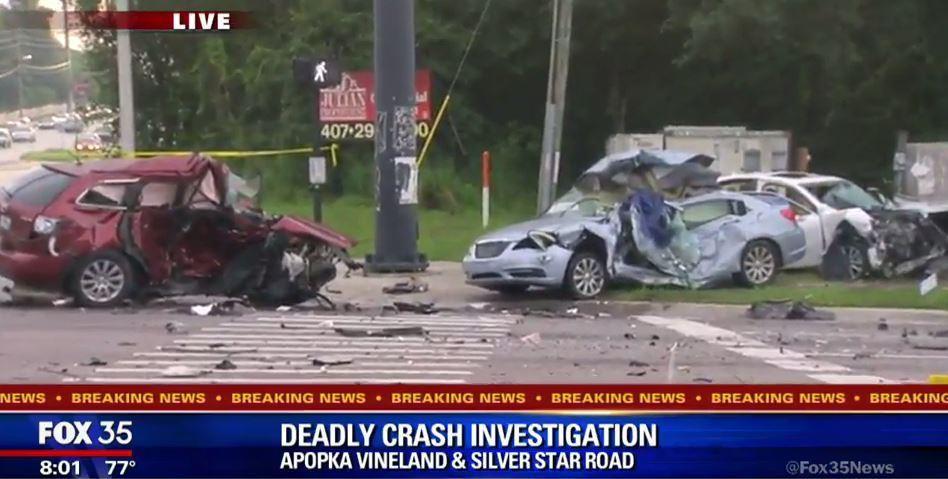 Deadly 5-car crash on Apopka-Vineland Road - Orlando Sentinel
