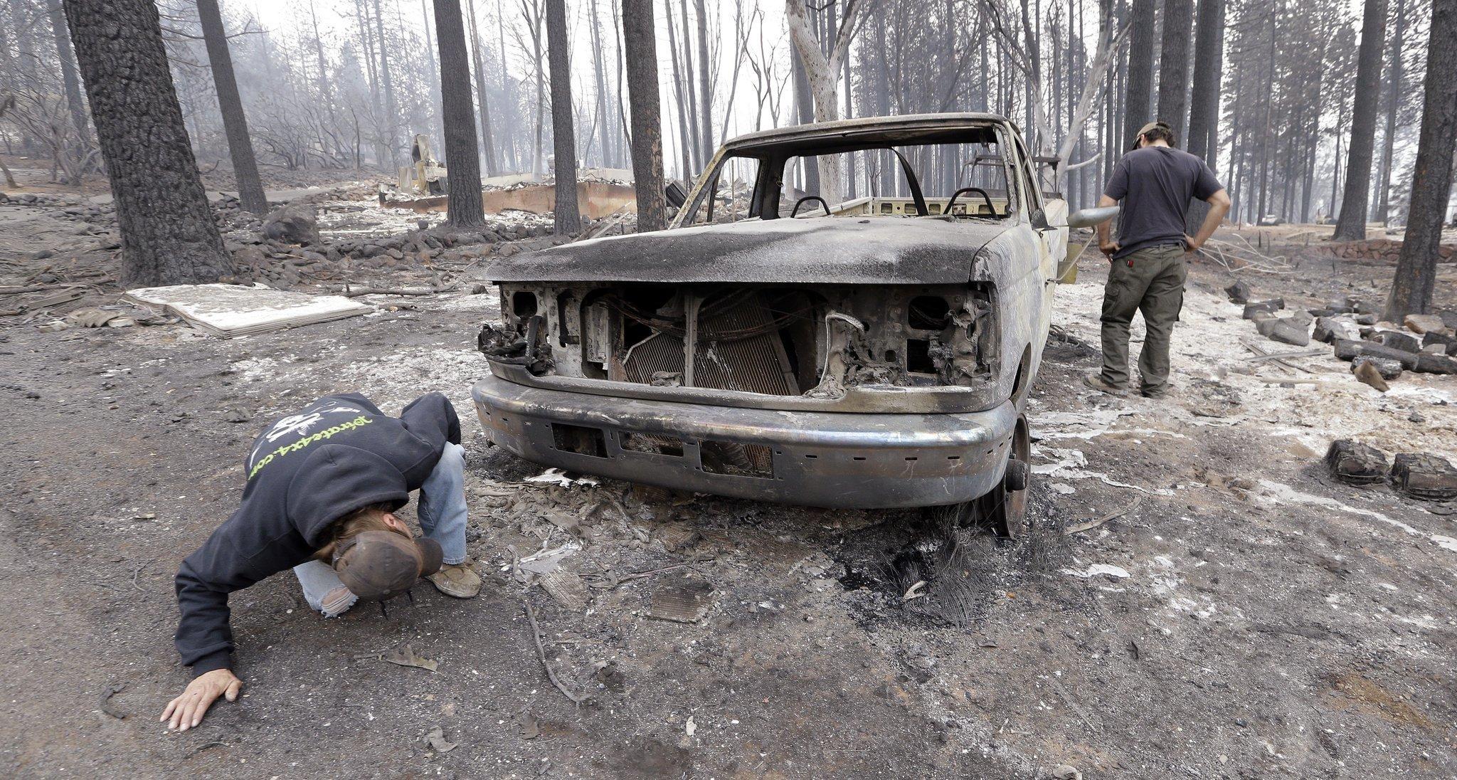 Ferocious wildfire devastates Northern California mountain town