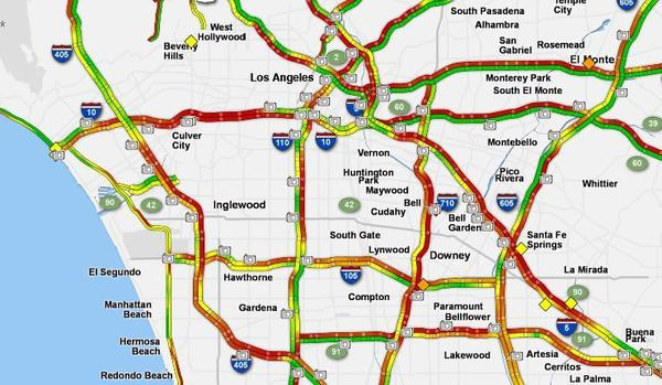 Los Angeles Big Rain Day Miserable Commutes Power Outages