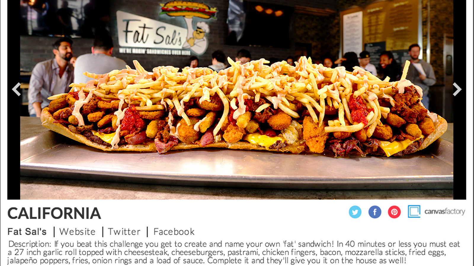 Fat Sal S Food Challenge