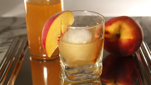 Spiced Peach Bourbon Old-Fashioned