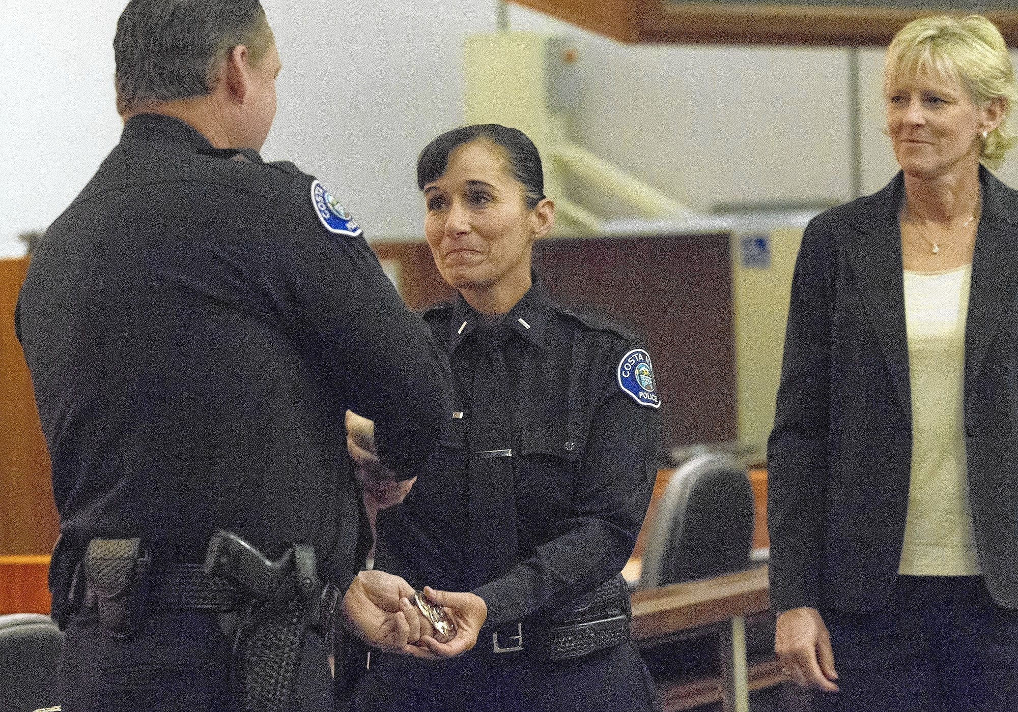 Photo Gallery: Costa Mesa police promote woman to ...
