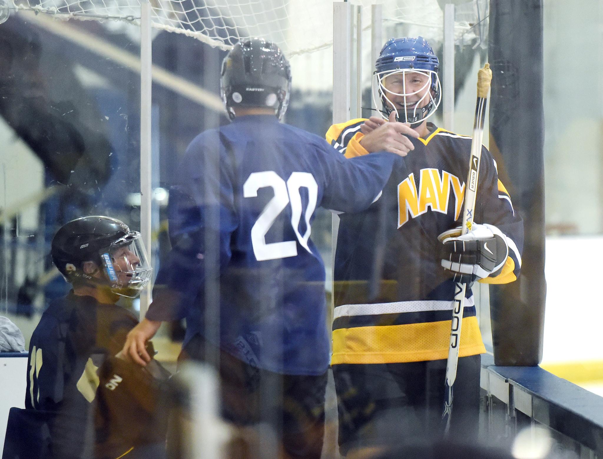 ae46dce6a71 Naval Academy Superintendent Carter plays ice hockey - Capital Gazette