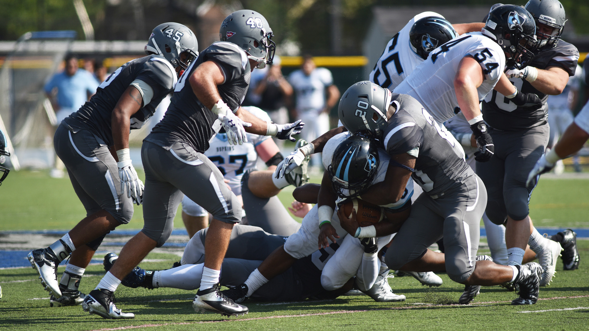 pictures: johns hopkins at moravian college football - the morning call