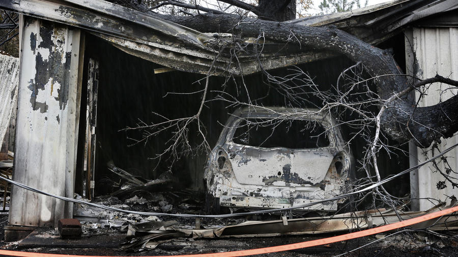 Valley fire damage