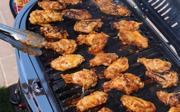 Grilled chipotle wings