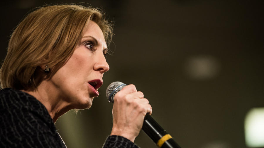 Carly Fiorina speaks at a town hall meeting in South Carolina. (Sean Rayford / Getty Images) ()