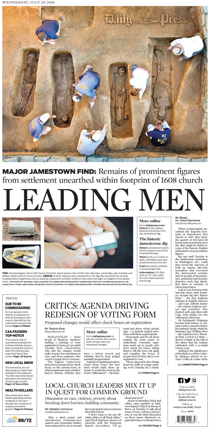 Daily Press' Today's Front Pages Gallery - Daily Press