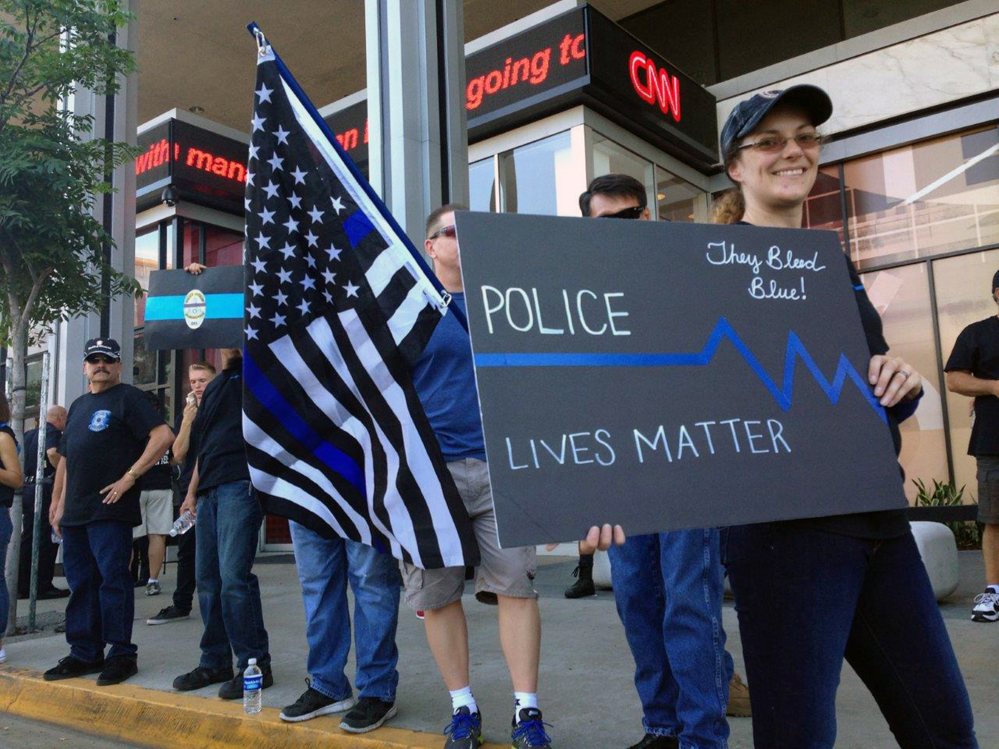 'Blue Lives Matter,' police and supporters say at ...
