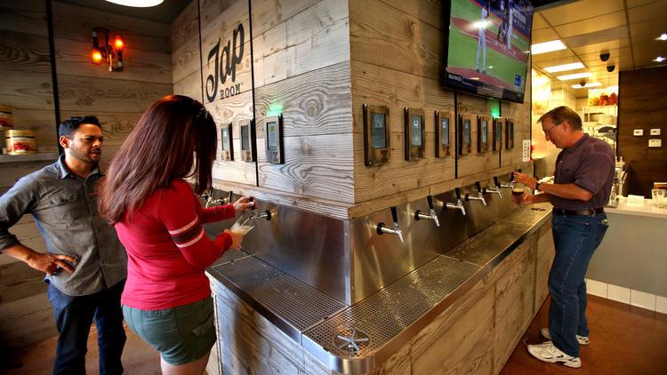 Self-serve beer on tap