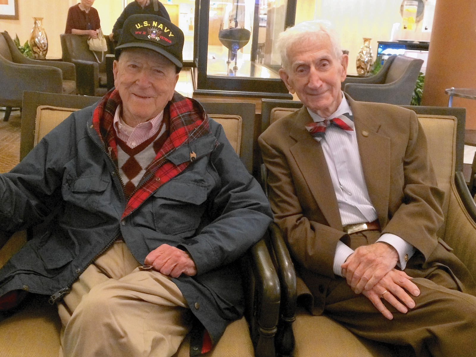 25b487eed8a Final reunion  Two sailors from Naval Academy Class of 1940 to meet for one  last time - Capital Gazette