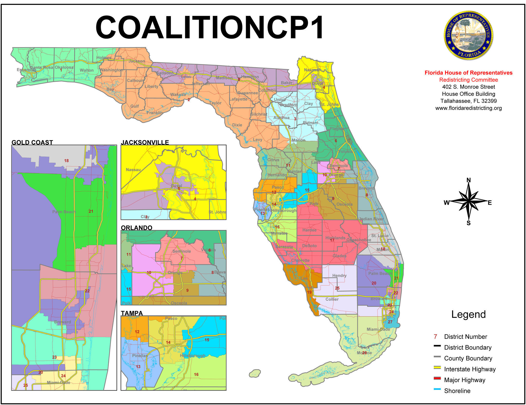Florida Congressional Districts Map See US House - induced.info