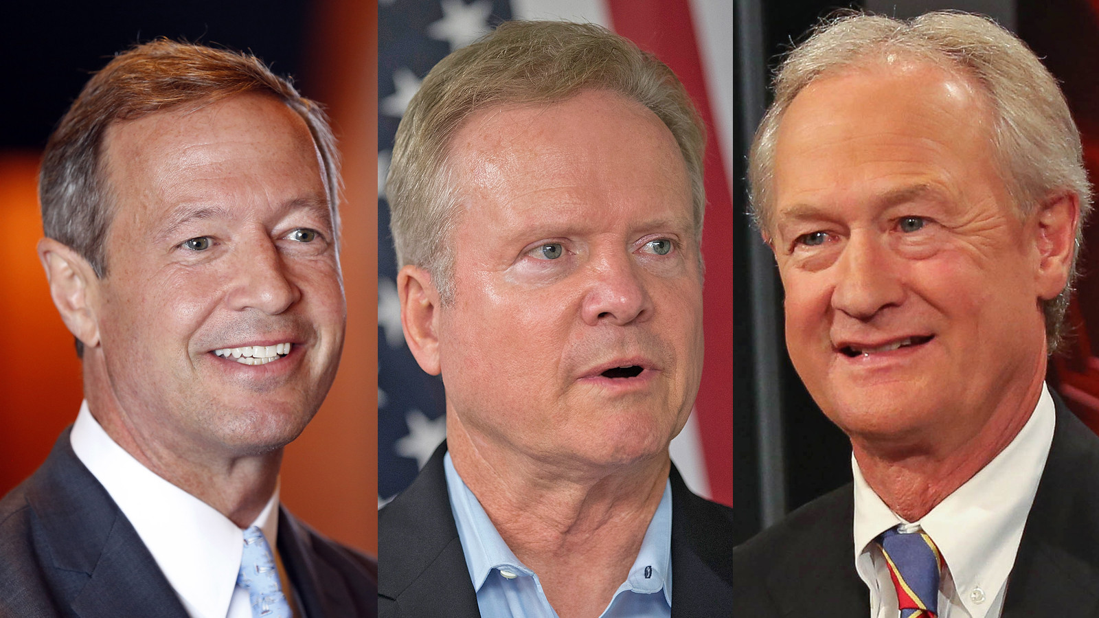 Martin O'Malley, Jim Webb, Lincoln Chafee. (AFP/Getty Images, Associated Press) ()