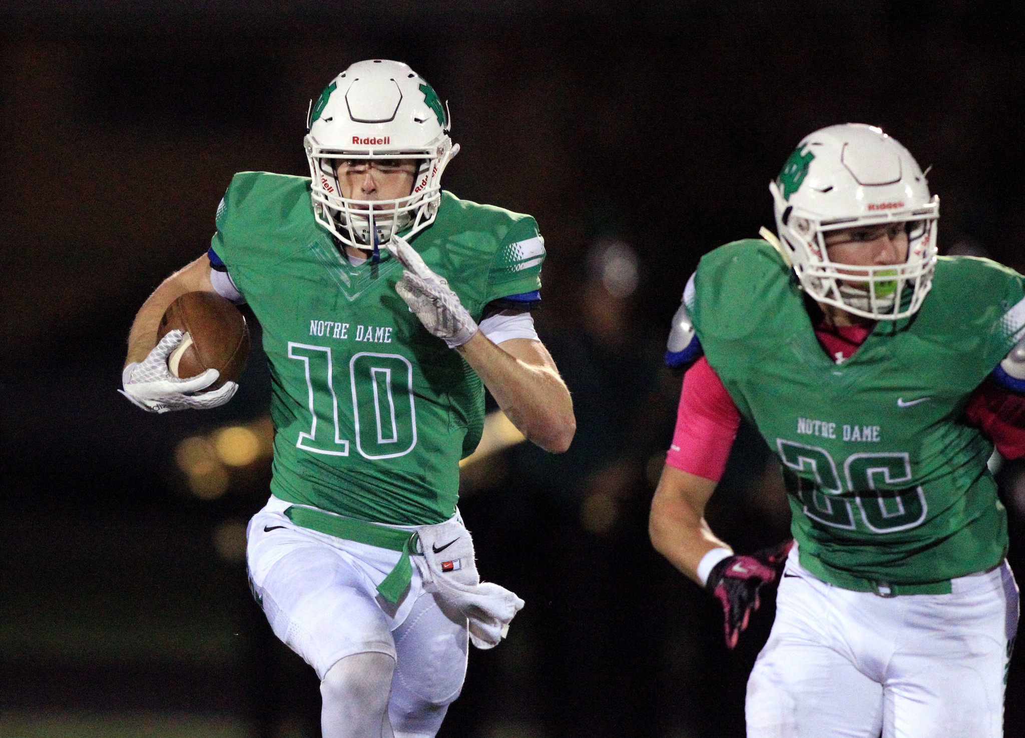Prep football: Notre Dame's Tim Simon does it all for Dons ...