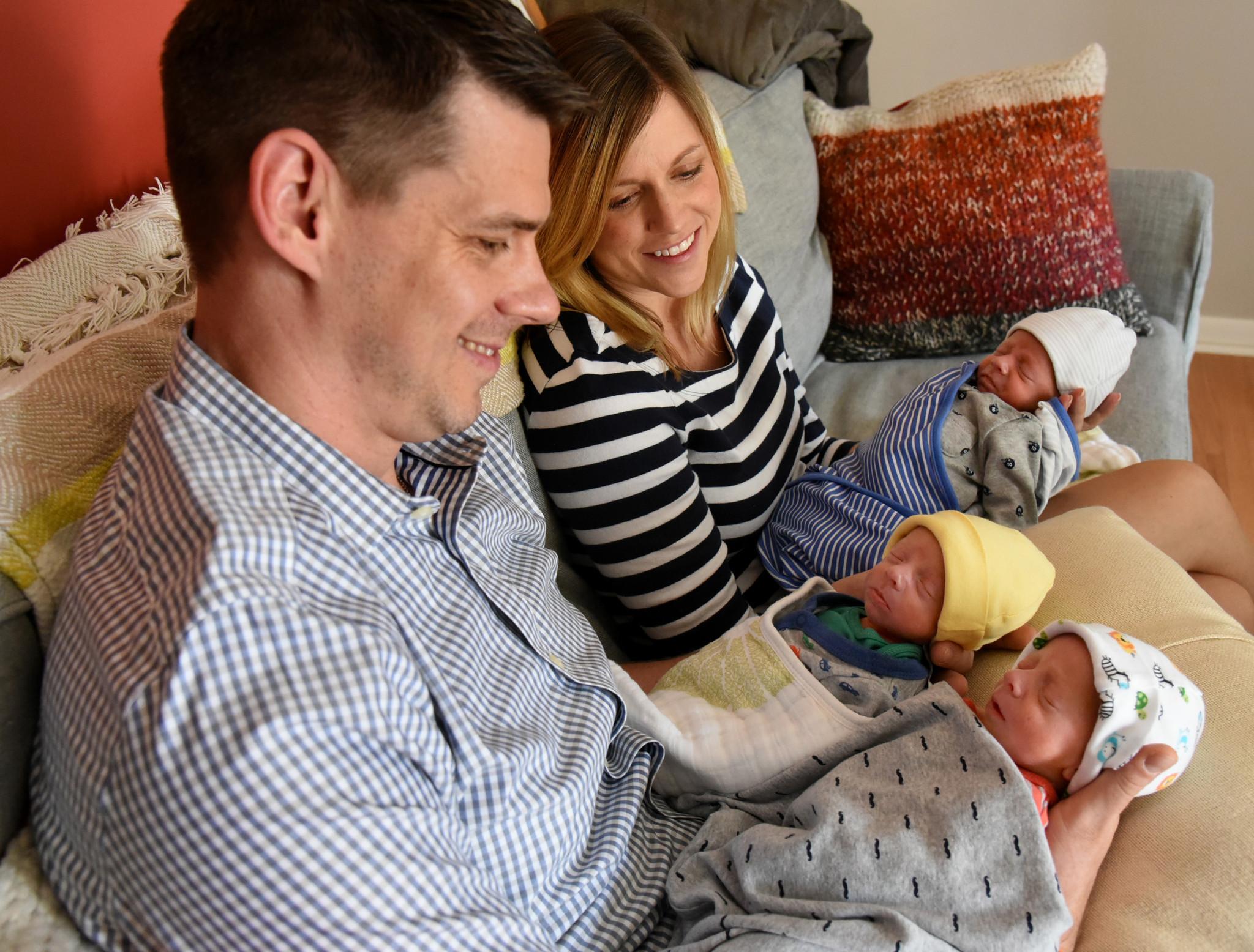 Rare Identical Triplets Born To Baltimore Couple