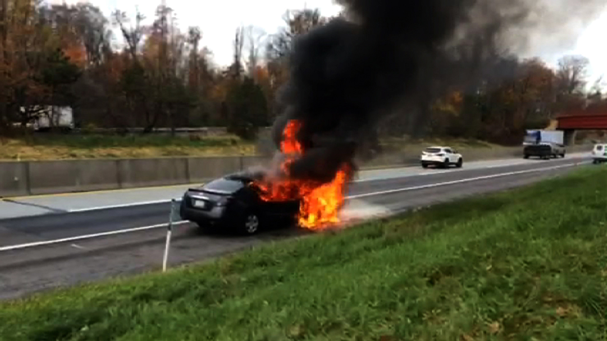 VIDEO: Car Fire on PA Turnpike - The Morning Call