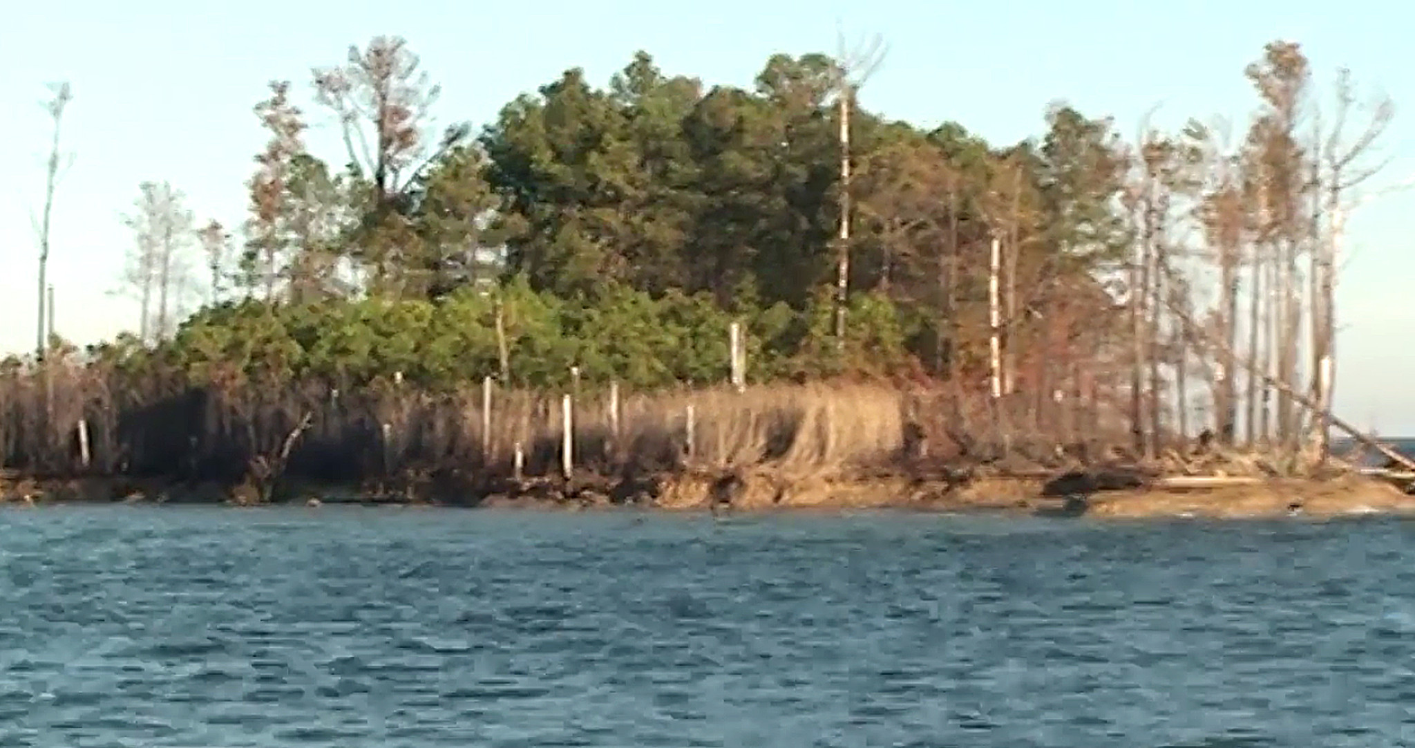 Parts Of A Column >> James Island losing ground in the Chesapeake Bay ...