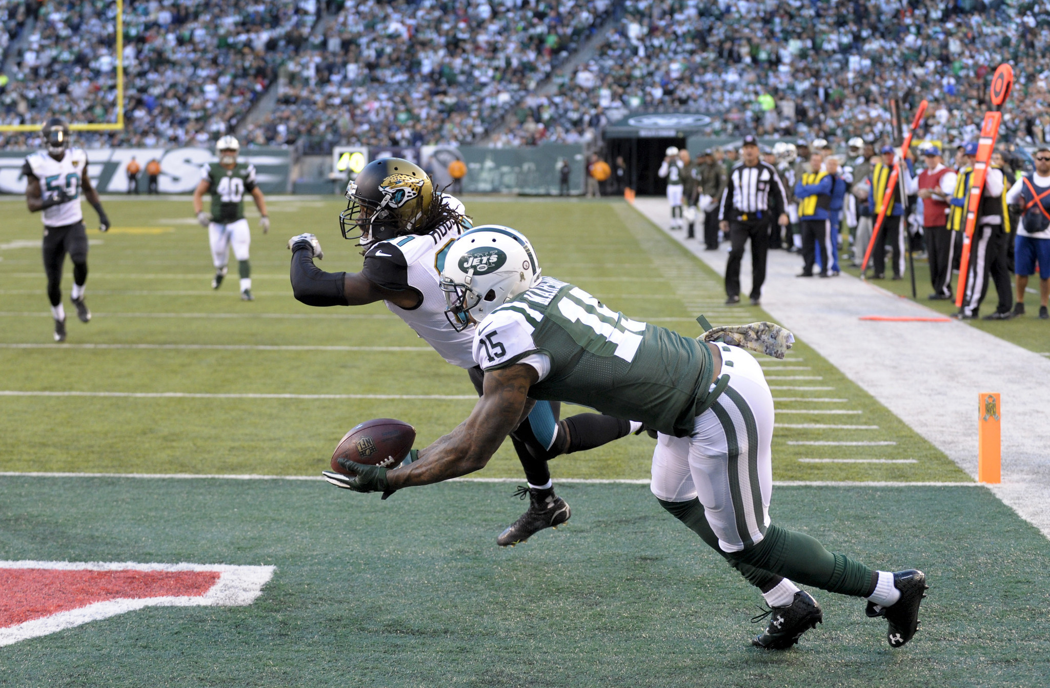 huge discount 5815d 57197 Jets Defeat Jaguars 28-23 On Two TD Passes By Fitzpatrick ...