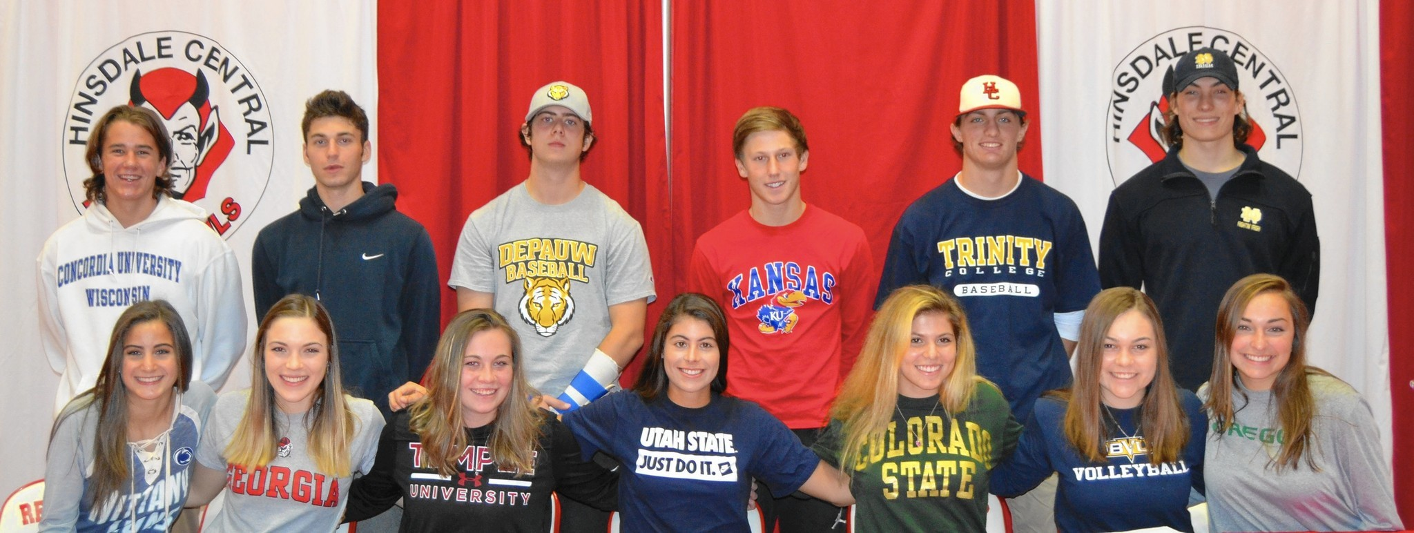 national letter of intent signing day many athletes in western suburbs taking part in national 23751 | ct dch signing day national letter of intent tl 1111 20151111