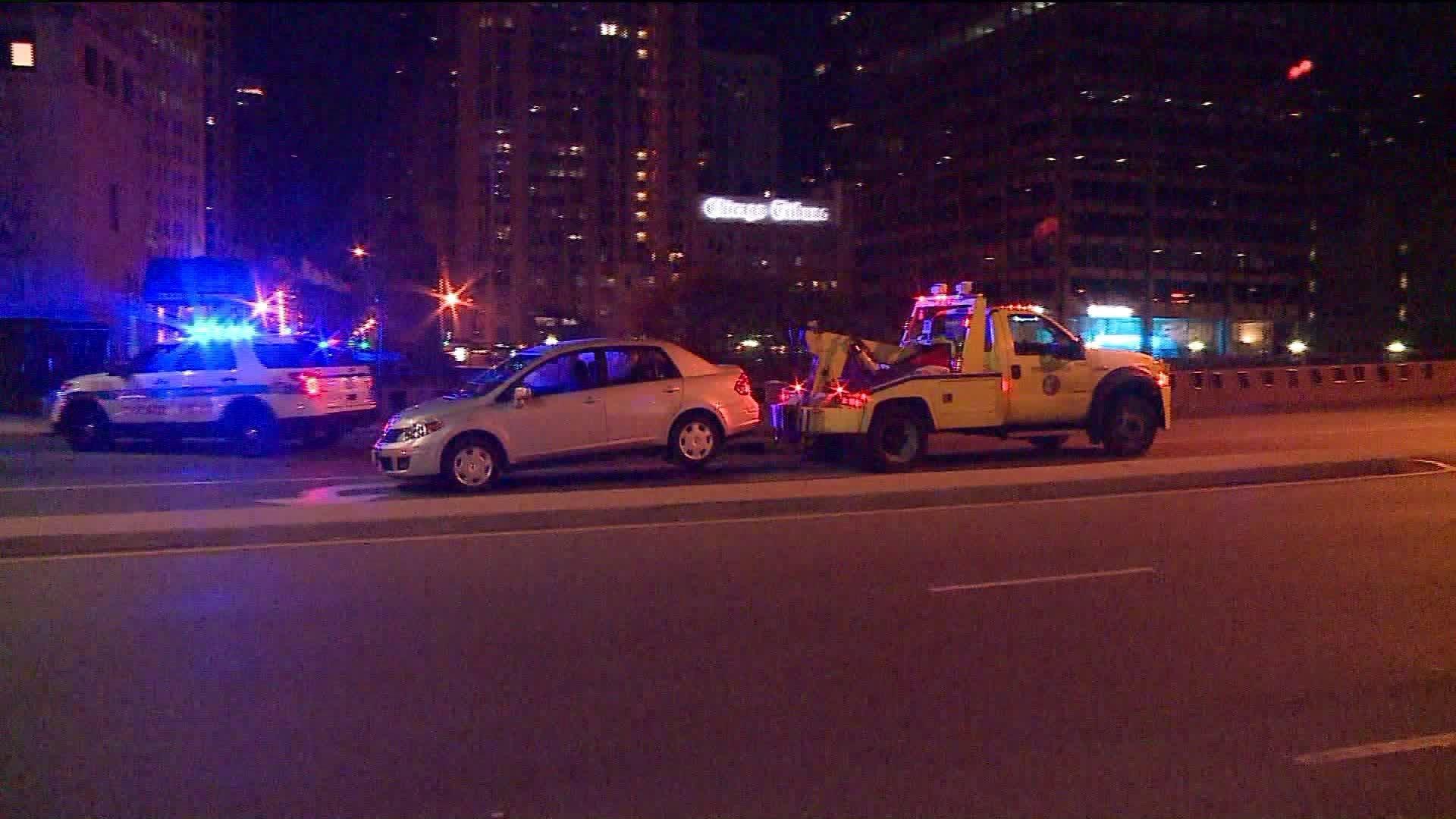 3 hurt after CTA bus, car crash on Michigan Avenue - Chicago