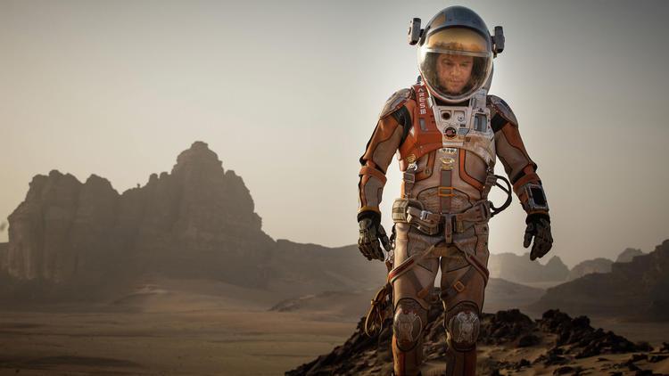 Matt Damon in a scene from the film,