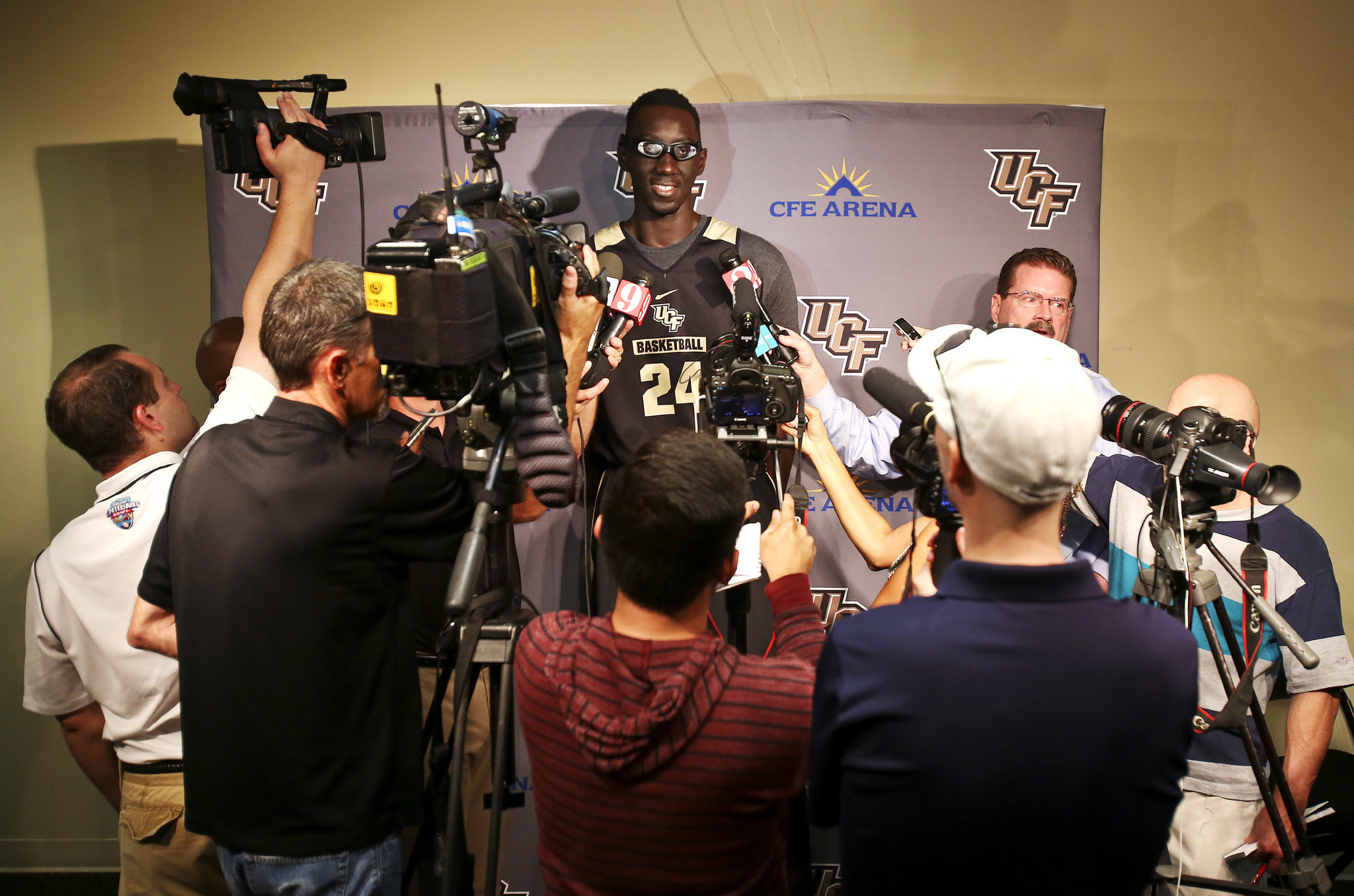 UCF basketball player Tacko Fall talks about their next ...