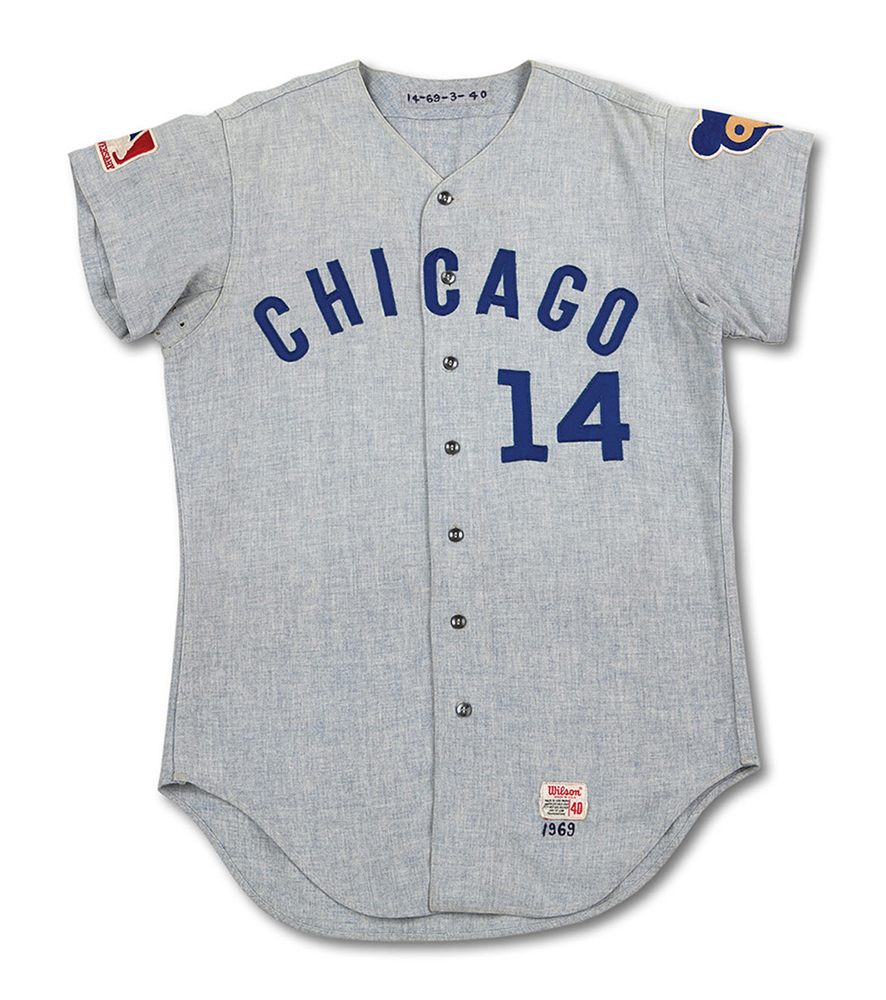 fed00d137113 Rare Ernie Banks jersey from 1969 goes up for auction - Chicago Tribune