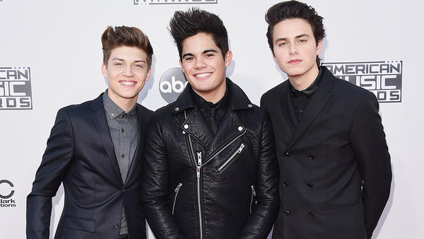 Ricky Garcia, left, Emery Kelly and Liam Attridge of Forever in Your Mind (Jason Merritt / Getty Images)