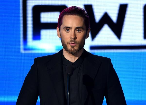 Actor-singer Jared Leto speaks onstage during the 2015 American Music Awards at Microsoft Theater. (Kevin Winter / Getty Images)