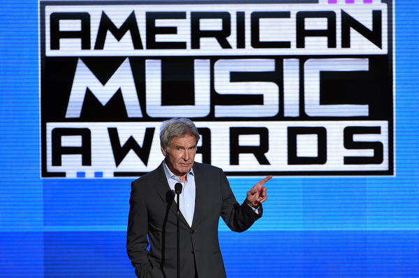 Harrison Ford at the American Music Awards.  (Kevin Winter / Getty Images)