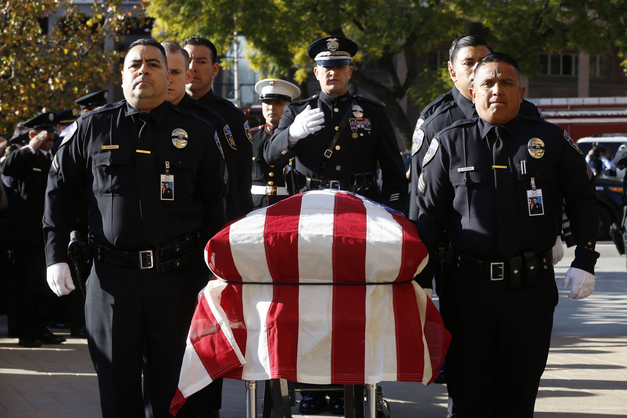 funeral for downey police officer ricardo galvez los angeles times