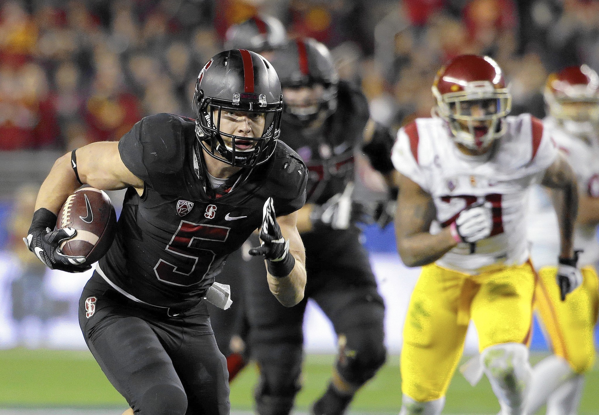 Christian Mccaffrey Makes History As Stanford Wins The Pac 12