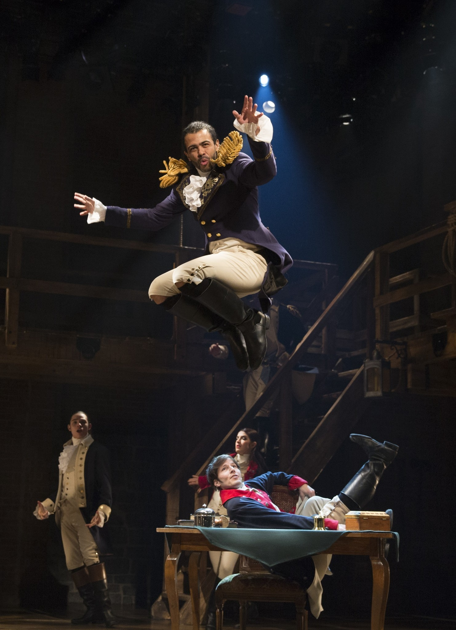 Daveed Diggs as Marquis de Lafayette Photo; The Chicago Tribune