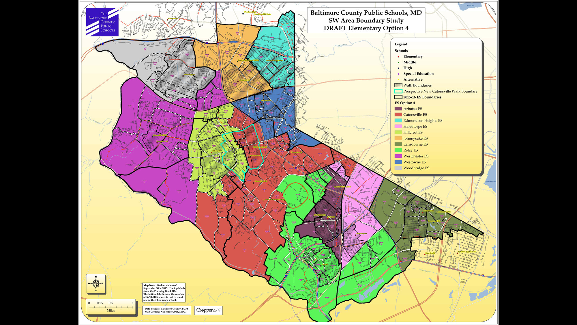 Baltimore County Public Schools Southwest Area Boundary Study maps ...