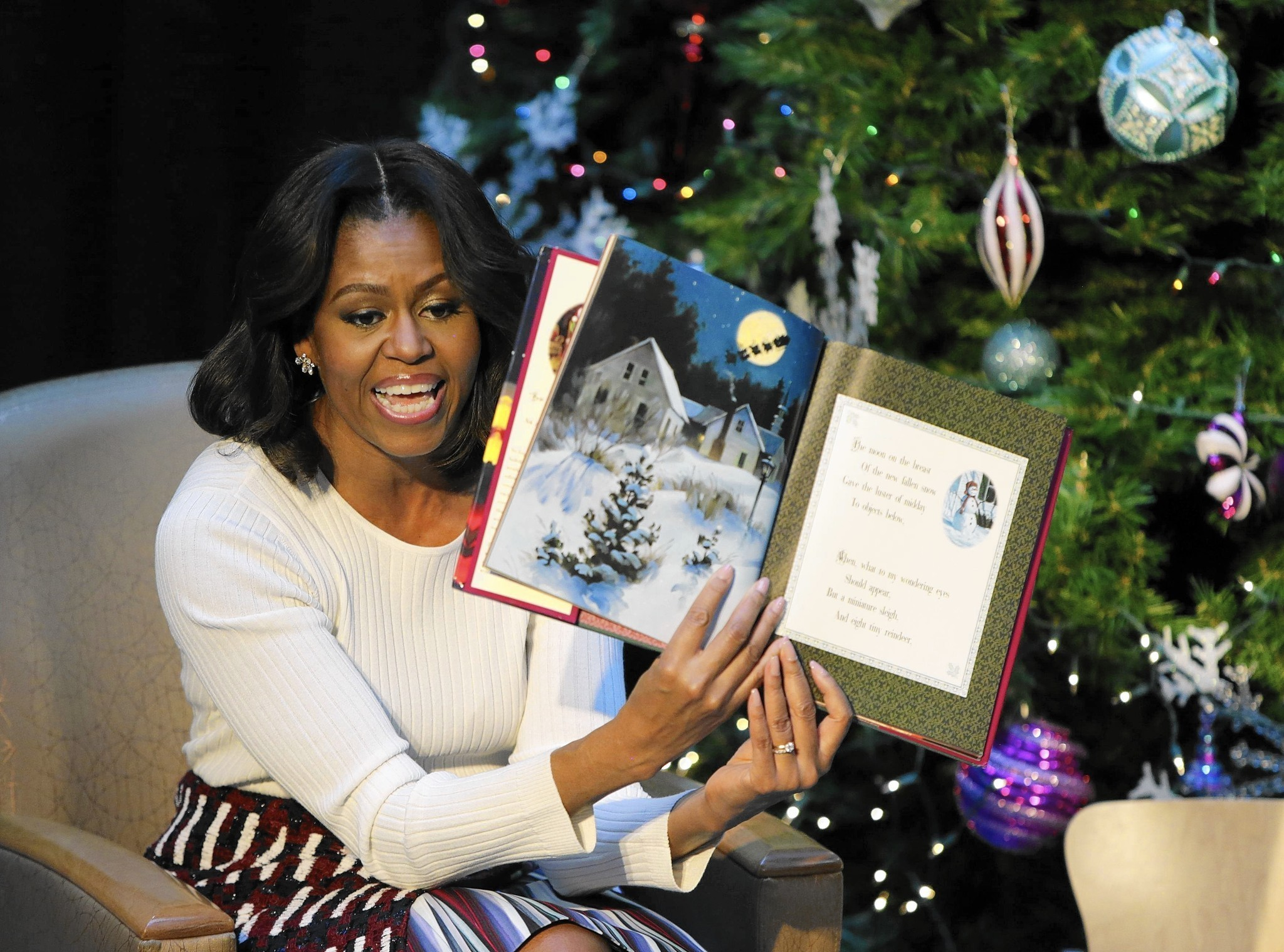 First lady visits kids\' hospital, requests pajamas for Christmas ...