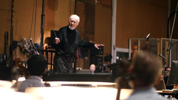"John Williams conducting the score for ""Star Wars: The Force Awakens"" (2015 Lucasfilm Ltd.)"