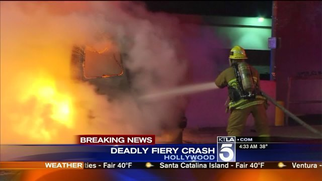 2 People Killed in Fiery Crash Following Brief Hollywood