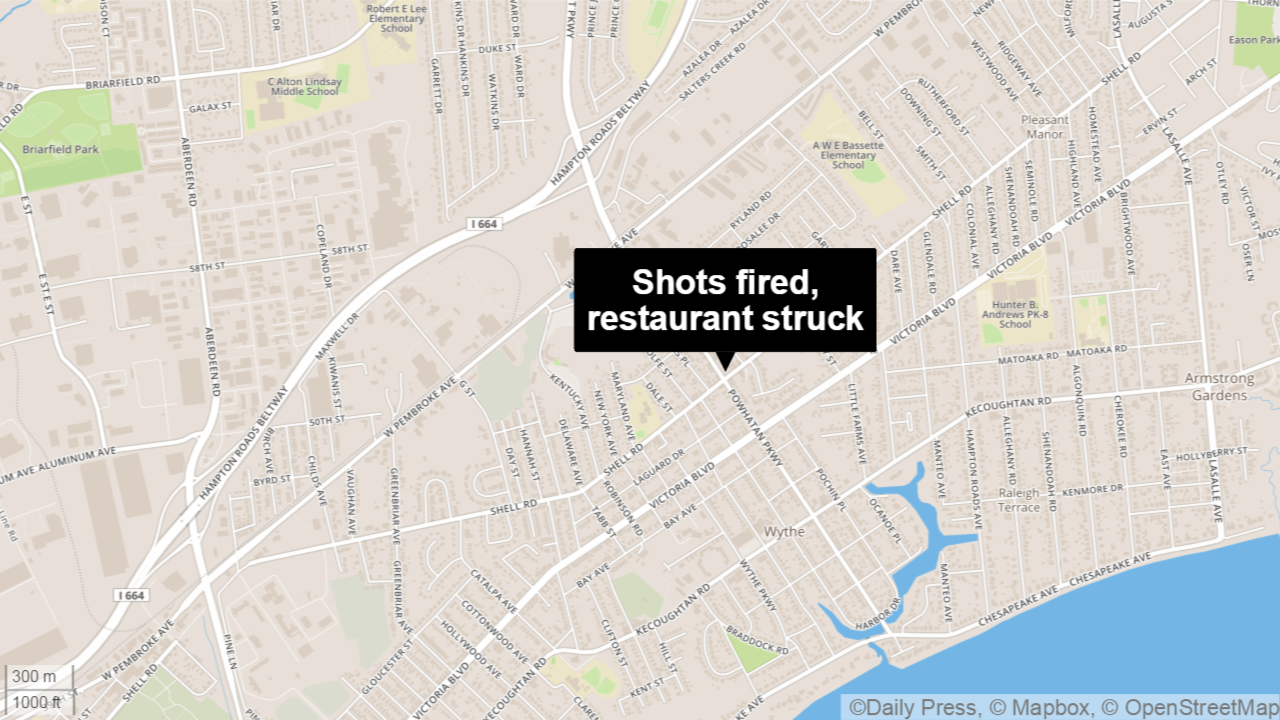 Hampton restaurant struck after shots fired, police say ... on