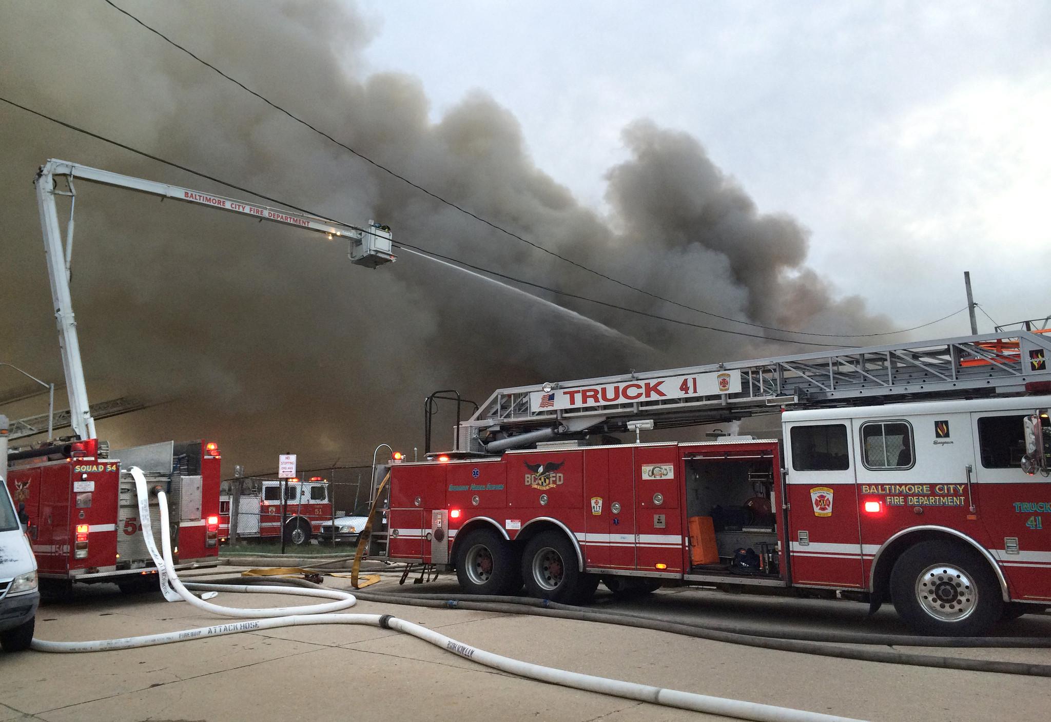 Three Alarm Fire On Ellwood Avenue Baltimore Sun