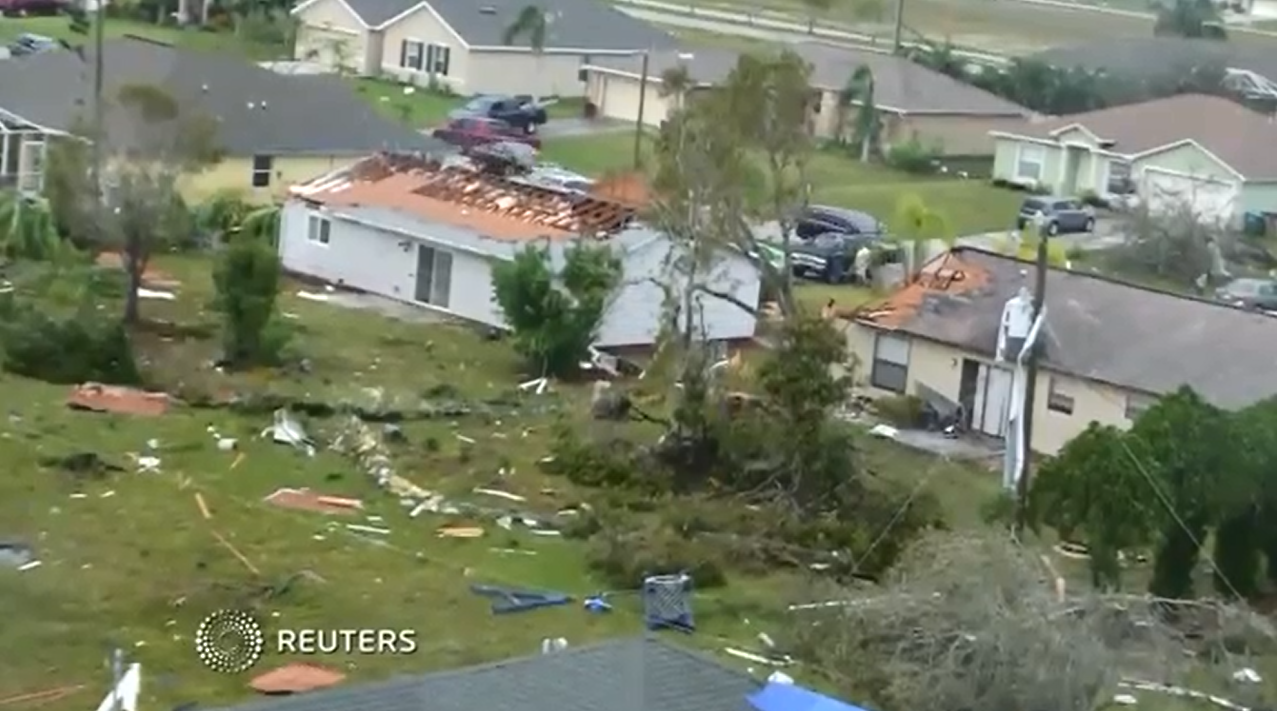 Tornado Touches Down In Cape Coral Damages Homes