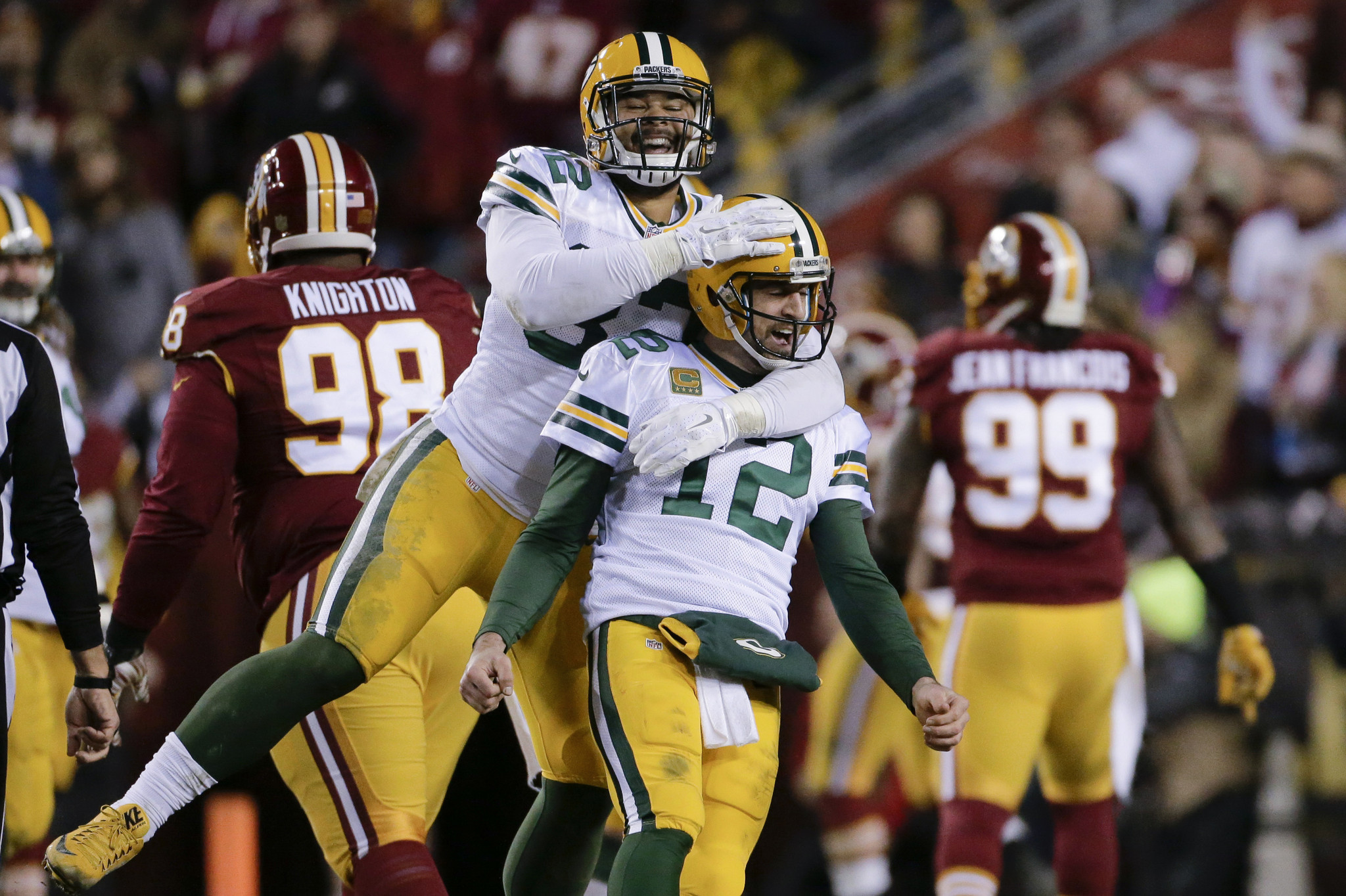 8f95248ec Wild Card Packers Defeat Redskins To Reach Divisional Round - Hartford  Courant