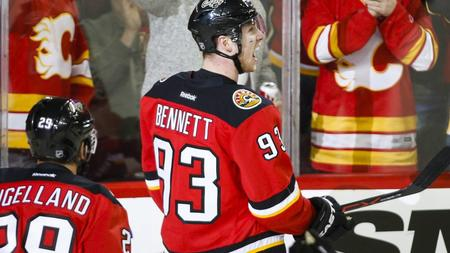 2c43f710781 Panthers  point streak emphatically ended in Calgary as Bennett scores four  goals