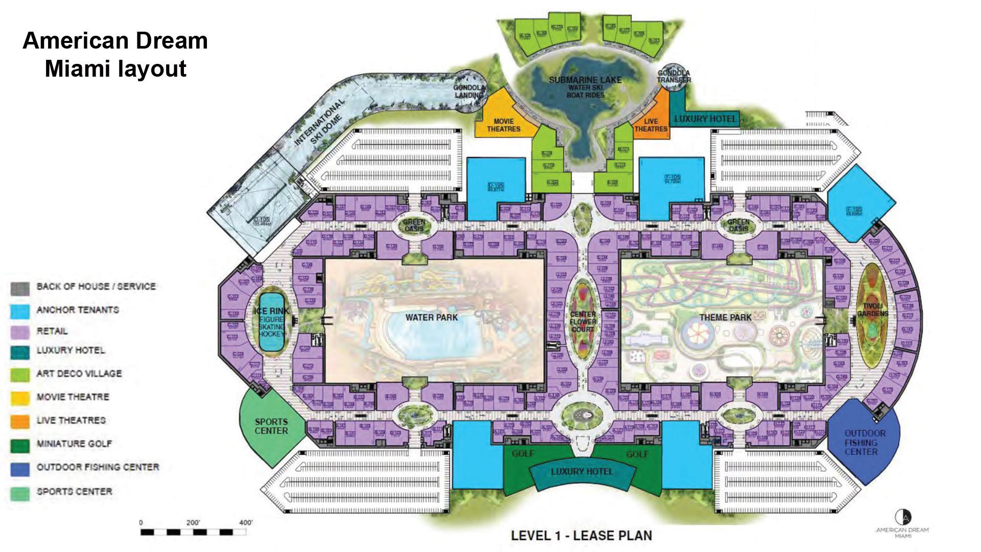 American Dream Miami Mega Mall Unveils Floor Plan Sun