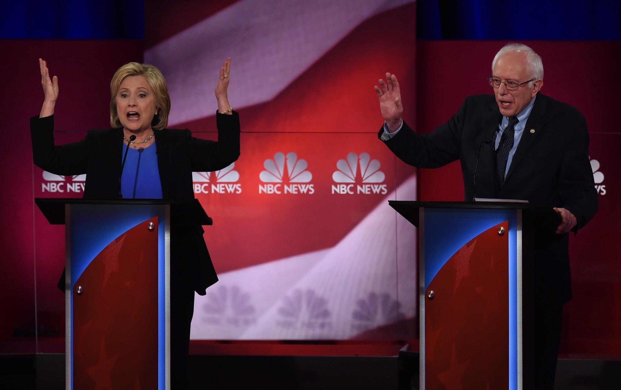 Hillary Clinton, Bernie Sanders spar over friends and enemies