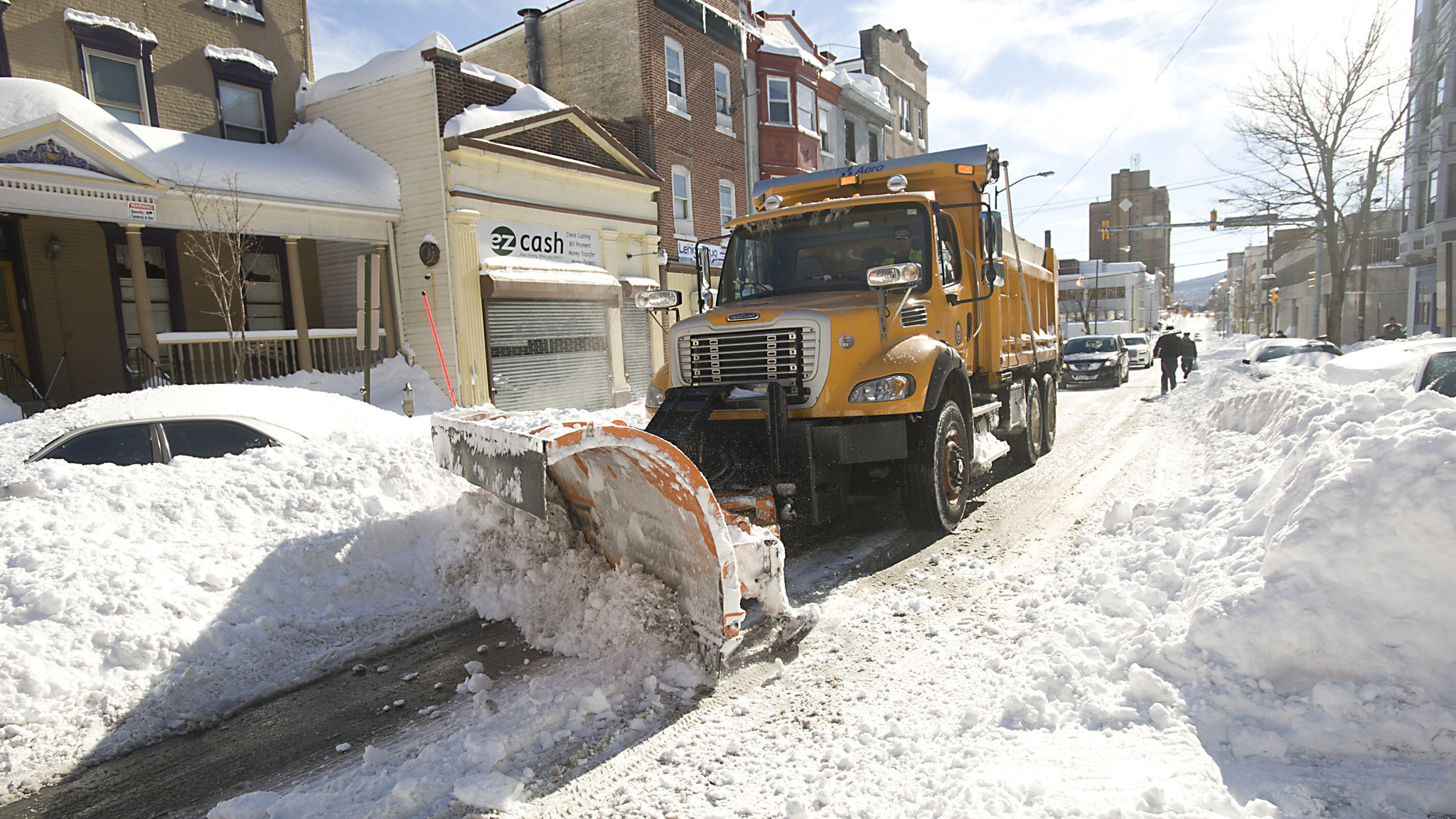 Plowing in the alley