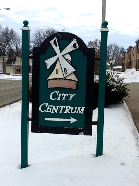 Downtown Orange City, Iowa. None