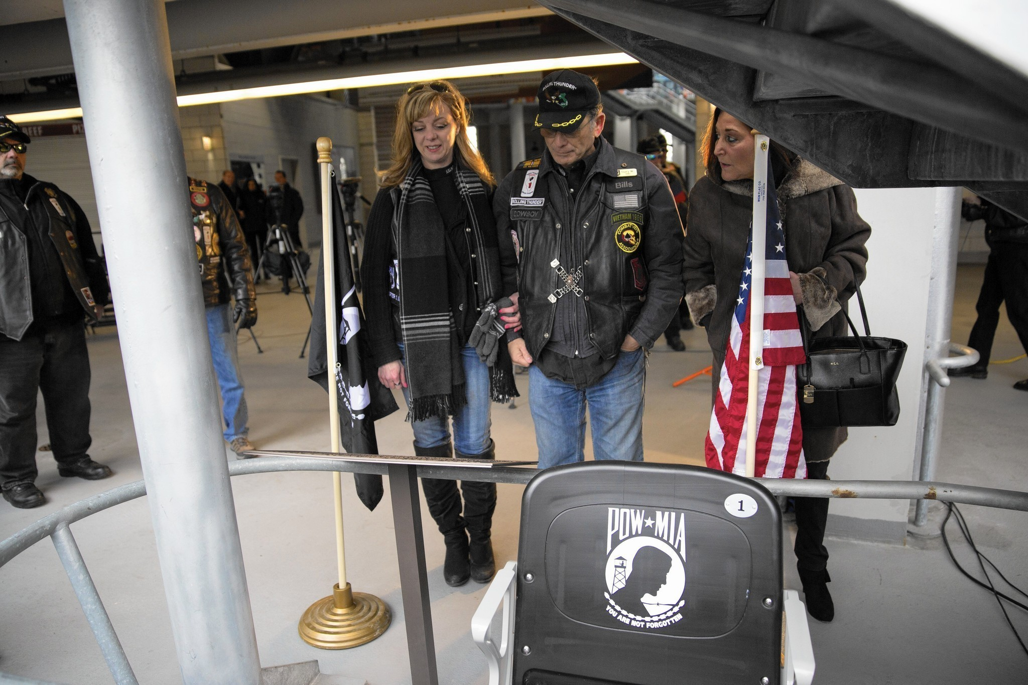 Empty Seat At Soldier Field Dedicated To Pows Mias