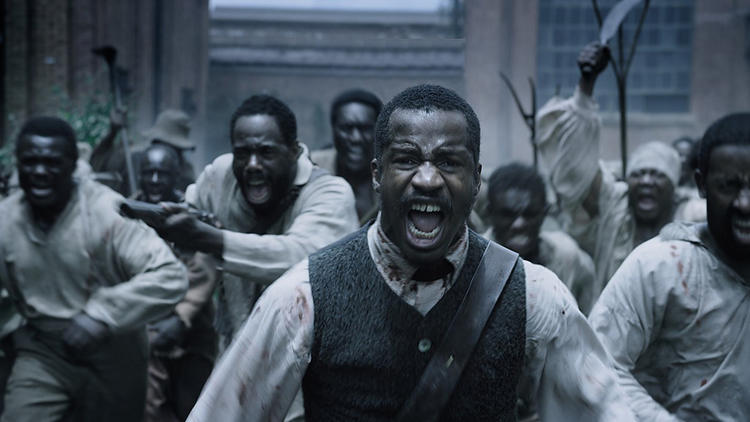 """The Birth of a Nation,"""" with writer-director-star Nate Parker as Nat Turner, center, evoked an Oscar front-runner response during January's Sundance Film Festival. (Fox Searchlight Pictures)"""
