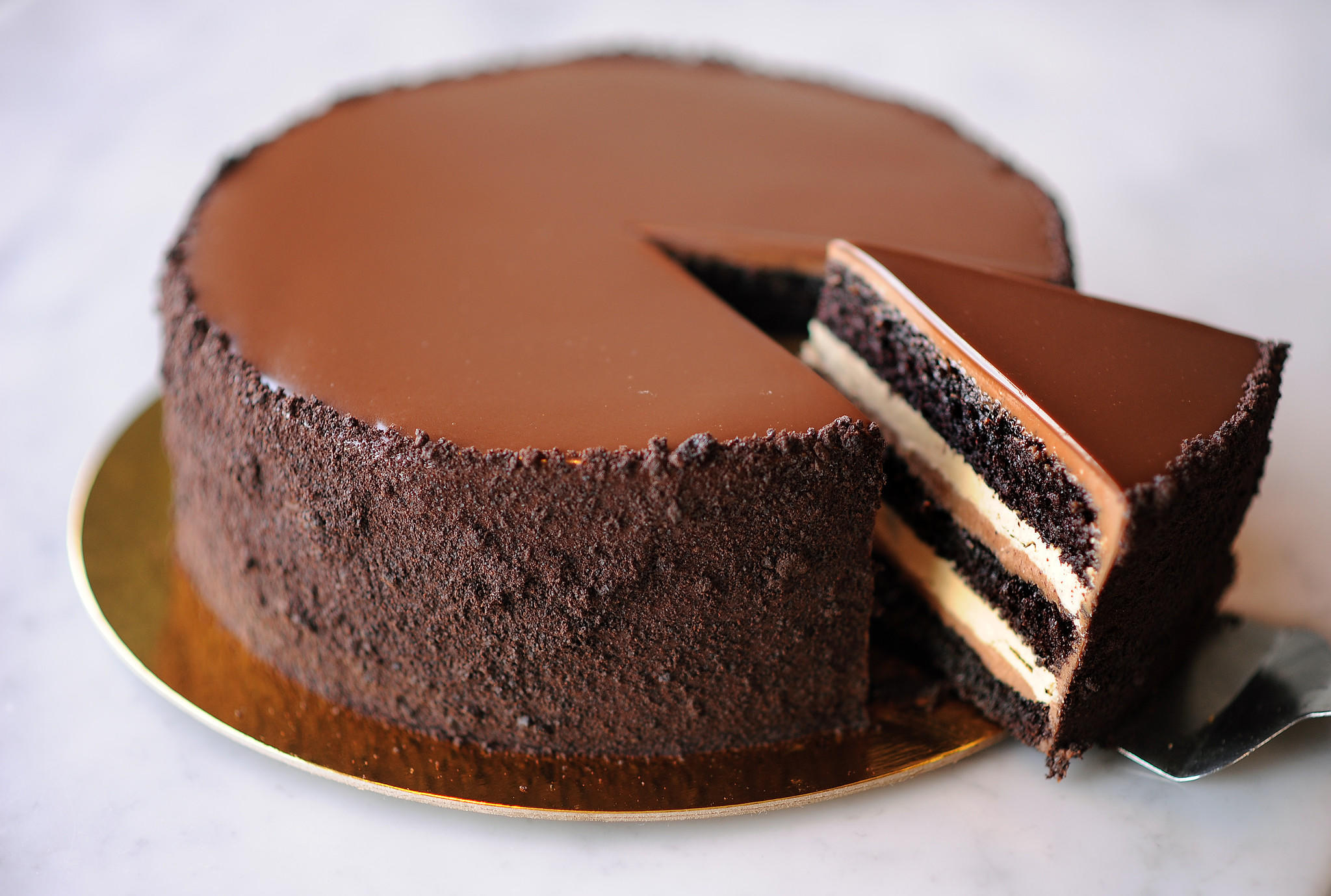 Chocolate Cake Layered Fudge Caramel Oreo Layer